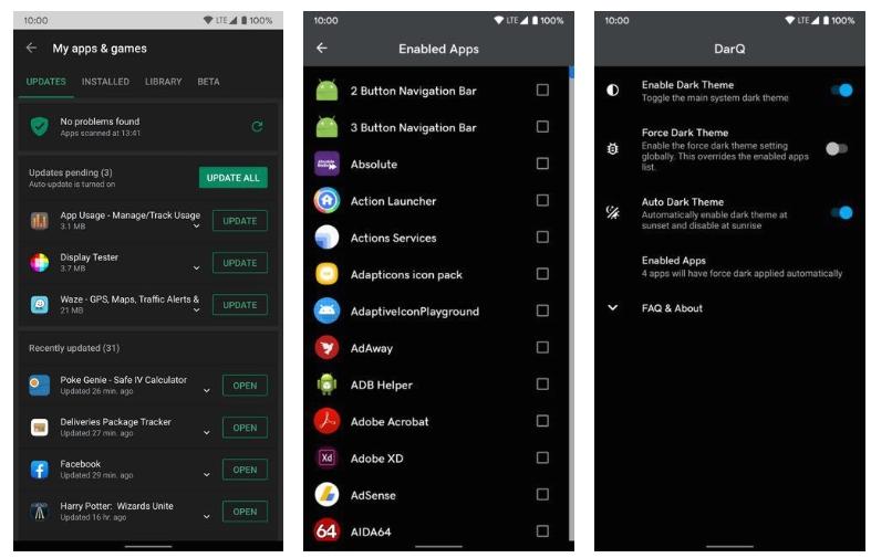 2020 02 10 23 56 57 Window - تطبيق DarQ يأتي بالوضع المظلم إلى التطبيقات التي لا تدعمه والمزيد