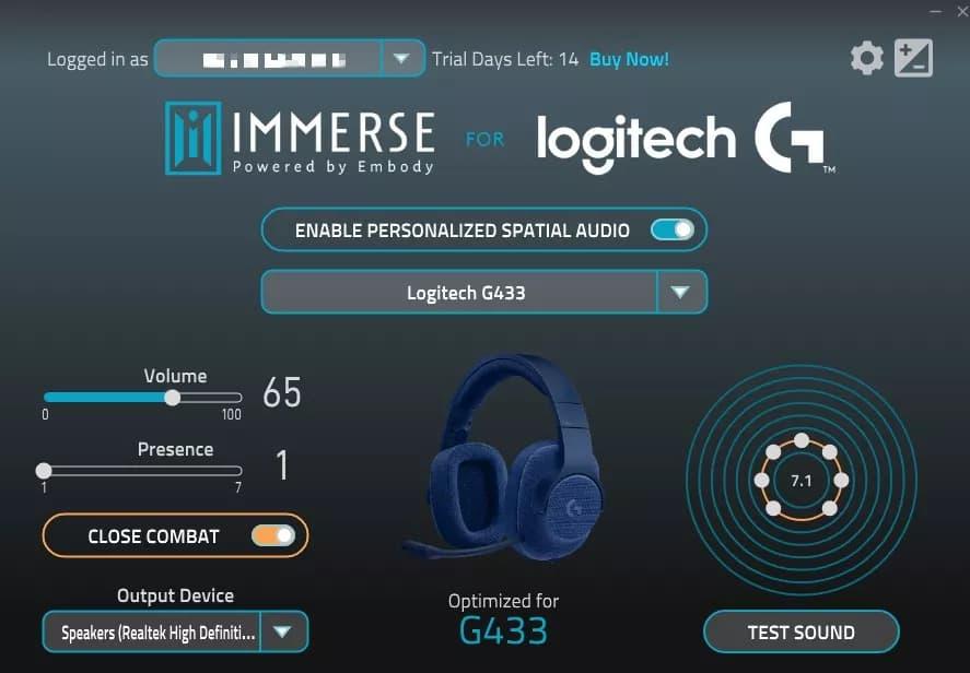 Embody LogitechG Immerse - تطبيق Immerse الجديد يحسن من جودة صوت الألعاب بطريقة غريبة