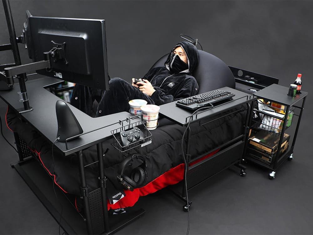 gaming bed - سرير الألعاب حلم للاعبين ينتقل بتجربة الألعاب إلى مستوى جديد كليًا!