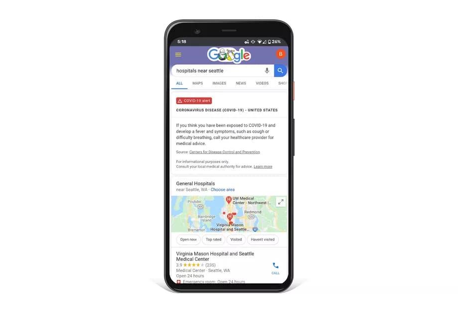 google coronawebsite - جوجل تُطلق موقعها المخصص لفيروس الكورونا COVID-19