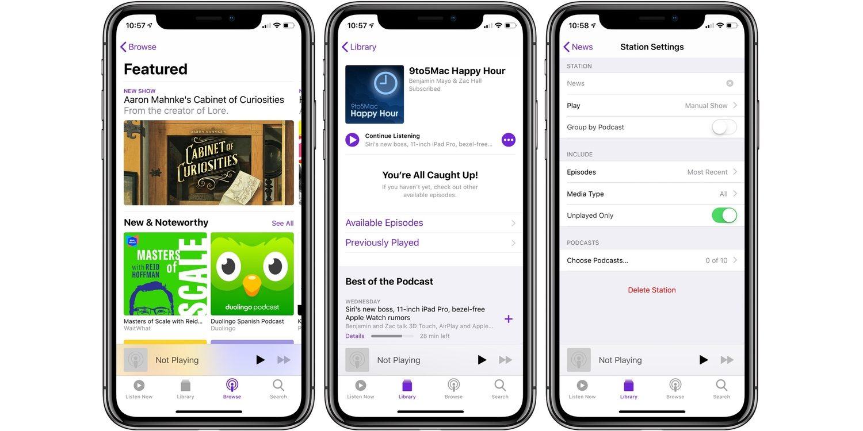 تطبيق Apple Podcast لبث البرامج الإذاعية ذات المواضيع المثيرة Apple-Podcasts