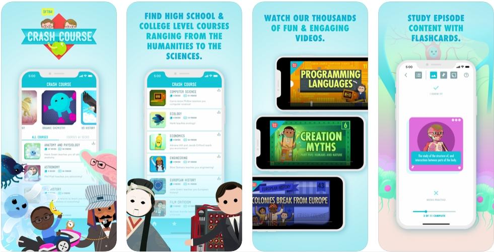 2020 05 05 00 01 54 Window - تطبيق Crash Course يوفر العديد من الكورسات التعليمية الإنجليزية مترجمة