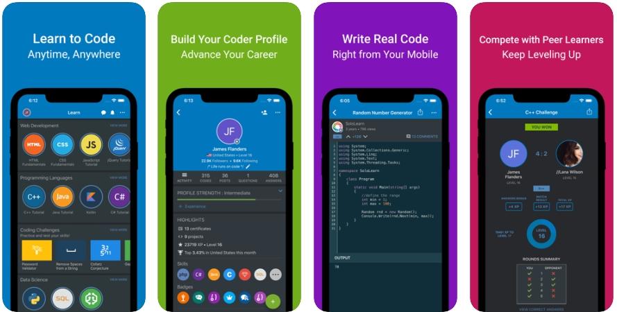 2020 05 13 00 48 37 Window - تطبيق SoloLearn يقدم أسرع طريقة لتعلم البرمجة وحصل على تقييم ممتاز