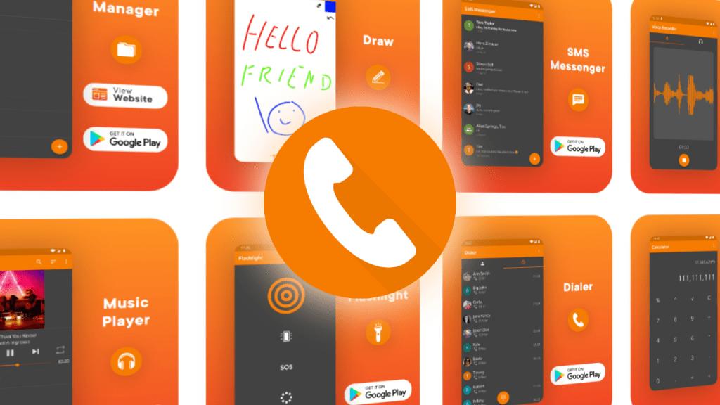 Simple Dialer 1024x576 1 - Simple Dialer - تطبيق هاتف بسيط وعملي لهواتف الأندرويد