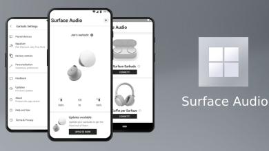 صورة تطبيق Surface Audio من مايكروسوفت للتحكم في السماعات