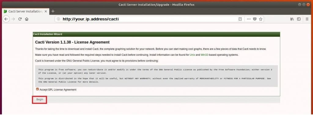 How to Install and Configure Cacti on Ubuntu 18 04 LTS