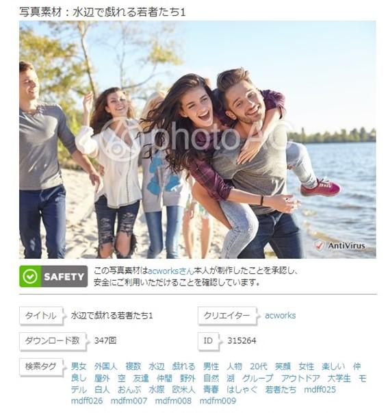 水辺で戯れる若者たち