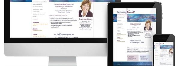 Neues Webdesign für Psycholgie & Kunst