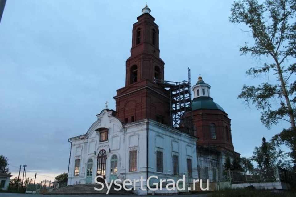 В первой половине XX века церковь Симеона и Анны в Сысерти называли Большой