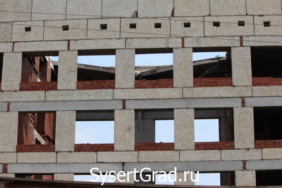 У здания провалилась крыша