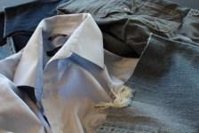 Gull og edelstener fra klesskapet - store herreskjorter er absolutt å foretrekke til et quilteprosjekt