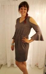 Andrea er flott i sin kjole fra Burda Easy V/S 2016 - dette blir ikke den siste jeg syr var hennes avsluttende kommentar....