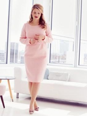 Tidløs og elegant kjole fra Burda Plus Size H/W 2014 model 410. Link til mønster i innlegget