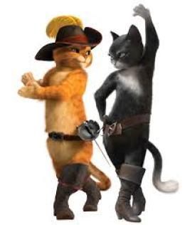 Den Bestøvlede Katt og hans kjæreste Kitty Fløyelspote