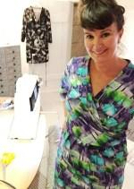 Den neste kjolen er med justeringer og inspirasjon fra de tekniske løsningene på Ilse Jacobsens kjole.