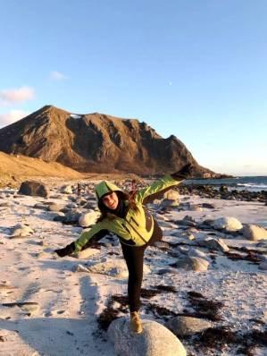 Fantastiske Bleik - vakkert, vildt og vind(y). Første test ble bestått for min vindbukse med nordenvind fra Barentshavet og skjønn midnattssol på stranden.