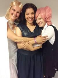 Men disse er gode venner: Fra venstre Andrea, Laureen og Pernille
