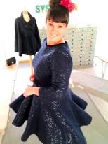 Denne kjolen blir nok litt varm å danse i, men den svinger flott