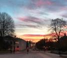 Tidlig morgen og soloppgang i Oslo