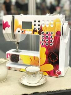 Du kan dekorere maskinen på mange måter - f.eks med yndligsblomstene fra hagen