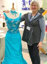 Denne nydelig kjolen har Lisbeth Schmidt fra Symaskineshoppen sydd
