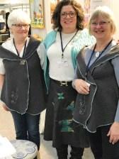 Alltid like hyggelig å møte disse tre kreative damene Inge, Helle og Lisbeth