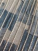 Det er enkelt å bygge opp et mønster og det deilige er at man skal ikke sy helt perfekte rader, men heller etterstrebe at det ligner noe som er sydd for hånd.