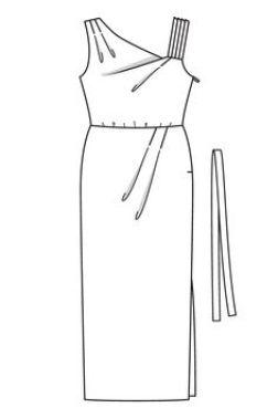 Jeg har valgt å kun bruke skjørtet på denne kjolen fra Burdastyle