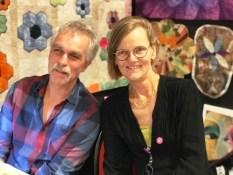 Jill og ektemannen Jørgen holder kurs om du kunne tenke deg å lære mer om frihåndsquiltning - de har begge sin helt individuelle stil