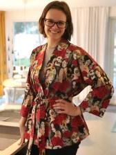 Mens Andrea laget en quilt så sydde jeg kimono