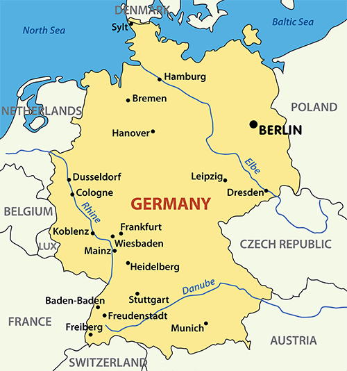 germany borders