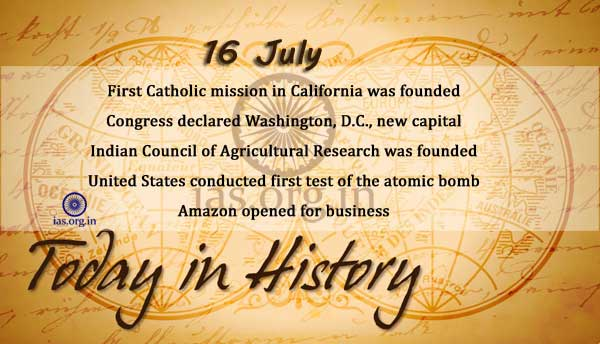 today in history 16 july