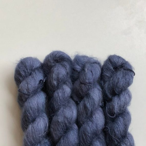 Sysleriget Silk Mohair Blued Steel