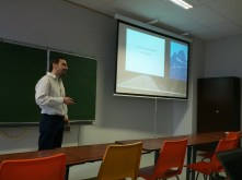 "Dimitrios presenting his talk ""How to securely deploy CFEngine in the open Internet"""
