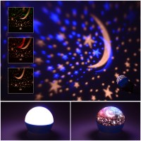 Projection lamp Moon Night Light USB Rotating LED Star Sky ...