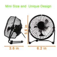 US 4inch USB Desk Fan Mini Table Fan Small Personal Fan