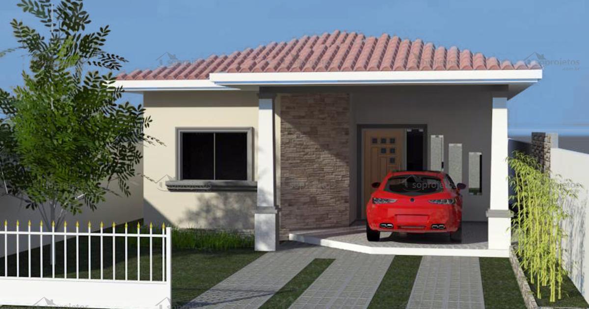 Casa Moderna Com 2 Quartos Sendo Um Suite Cd 107 S Projetos