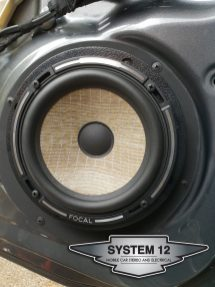 Focal PS165F mounted in the Factory locations with custom mounts