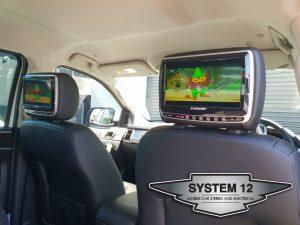 Schneider DVD headrest screens