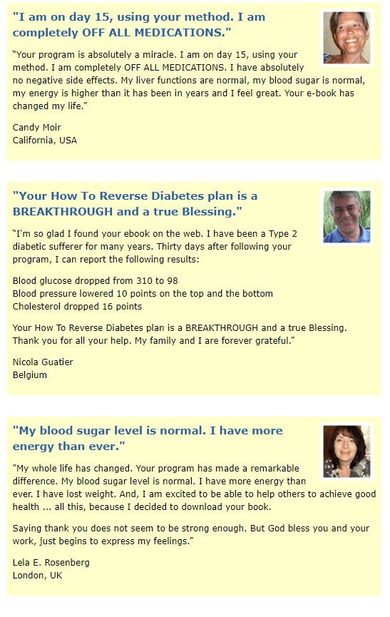 Reverse Diabetes Today Customer Reviews