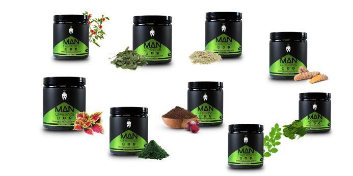 Man greens ingredients