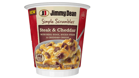 Steak and Cheddar Scrambles from Jimmy Dean