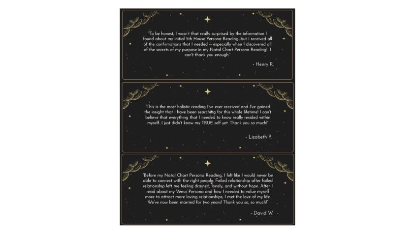 Natal Persona Reading Customer reviews