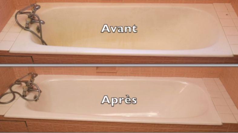 Restaurer L'émail D'une Baignoire Avec De La Résine