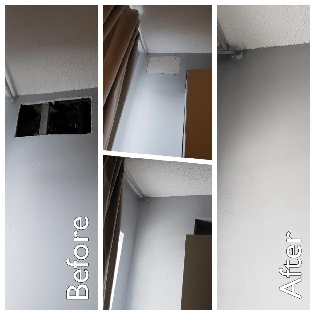 Drywall repair and paint.