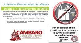 El 1 de noviembre inicia  la campaña para no usar bolsas de plástico