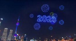 Shangai, China, recibió el Año Nuevo con un espectáculo de drones