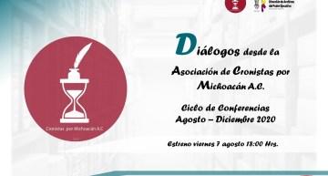 """Con """"diálogos"""" sobre historia regional, los cronistas michoacanos tendrán eventos por Youtube"""