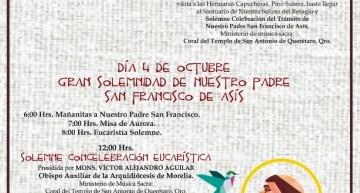 Inicia la festividad  en honor a San Francisco de Asís