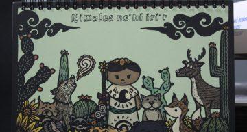 """Estudiantes del noreste  crean el libro """"Nimales nc´hí lri´r"""" (Animales imaginarios)"""